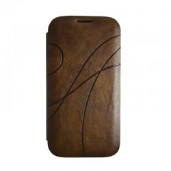 Чехол-книжка Samsung i9500 Book Cover brown