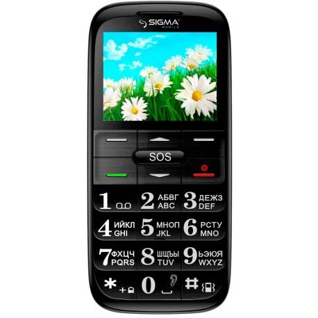 Мобильный телефон Sigma Comfort 50 Slim Black/red