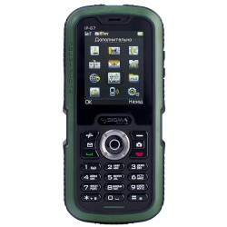 Мобильный телефон Sigma X-treme IP67 Dual Sim Black/Green