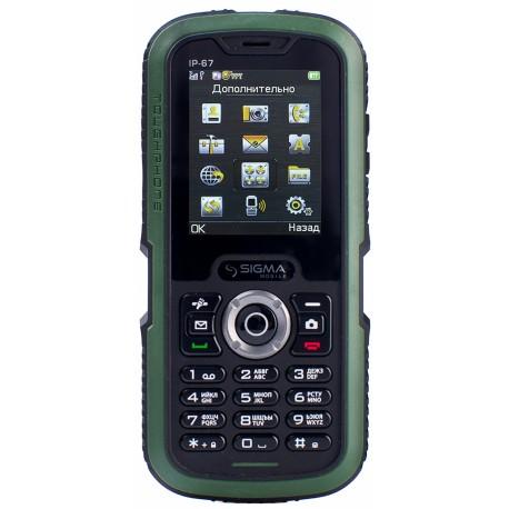 Мобильный телефон Sigma X-treme IP67 Dual Sim Black/Green
