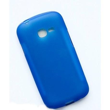 Силиконовый чехол Samsung S7262 blue