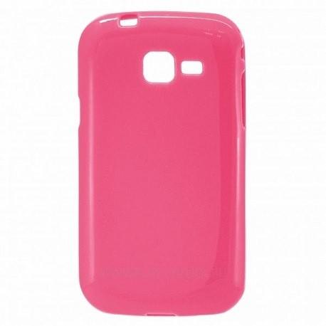 Силиконовый чехол Samsung S7262 pink