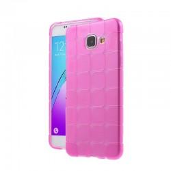 Силиконовый чехол Samsung A310 pink Cube