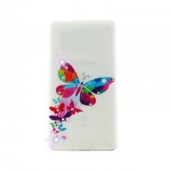 Силиконовый чехол Lenovo A358t Queen Butterfly
