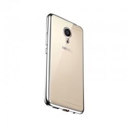 Силиконовый чехол Meizu MX5 silver