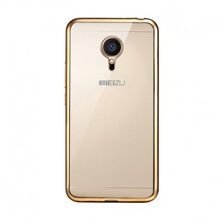 Силиконовый чехол Meizu MX5 gold
