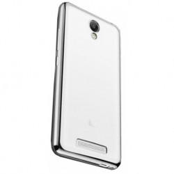Силиконовый чехол Xiaomi Redmi Note 2 silver
