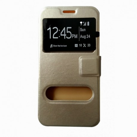 Чехол-книжка Meizu M2 mini gold Window