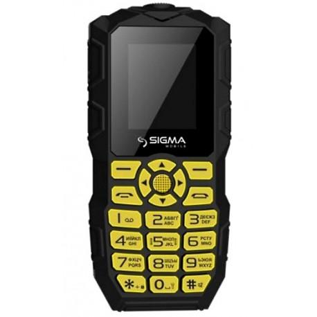 Мобильный телефон Sigma mobile X-Treme IO68 Bobber black-yellow