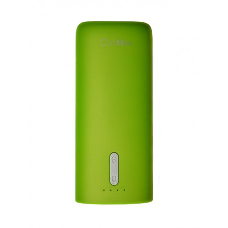 Power Bank CooMax C7 green (5200 mAh)+ фонарик